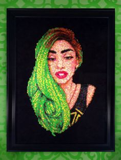 Lady Gaga Free As My Hair Portrait  Framed by FourthDesigns, $399.00