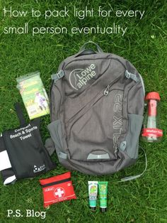 Pack Light for every child eventuality. Travel tips and travel hacks for parents. Reviewing the Lowe Alpine Helix DaySack, a great rucksack for walking, family days out, work and play. Plus some really great lightweight products - travel towels, first aid kits, ponchos, water bottles and much more