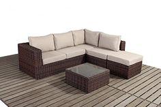 Small Corner Right Luxury Windsor Rattan Garden Furniture (WGF-2709)