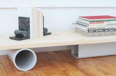 pvc / pineboard shelf STILL REALLY LOVE THIS IDEA // via building block studio visit on sight unseen