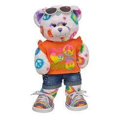 Cheerful Peace & Love Bear - Build-A-Bear Workshop US