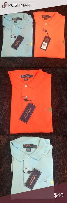 "Men's polo shirts 2 XL Set of two NWT!Polo Ralph Lauren men's XXL ""the interlock shirt"".Brand new.$80 Polo by Ralph Lauren Shirts Polos"