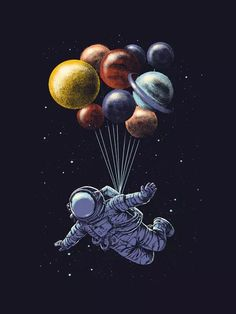 """Space Travel"" by Carbine. Artwork available as art prints, laptop skins, phone…"
