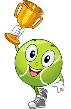 Stock Photo - Ilustraci n Mascota With a Lawn Tennis Ball celebrate us . Sports Day Decoration, School Board Decoration, Lawn Tennis, Tennis Tips, Sports Day Banner, Tennis Drawing, Tennis Serve, Tennis Match, Physical Activities For Kids