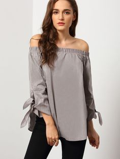 Size Available :XS,S,M,L Fabric :Fabric has no stretch Season :Fall Pattern Type :Plain Sleeve Length :Long Sleeve Color :Grey Material :Polyester Style :Bohemian Collar :Off the Shoulder Bust(cm) :XS