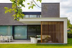 contemporary garden room | pergola || Moderne aanbouw overkapping | Bogarden