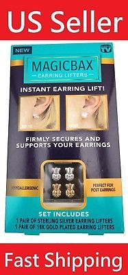 MagicBax Earring Lifters 2 Pairs of Adjustable Hypoallergenic Earring back Lifts Diy Jewelry Necklace, Shell Jewelry, Jewelry Making Beads, Etsy Jewelry, Jewelry Making Supplies, Boho Jewelry, Wedding Jewellery Inspiration, Small Diamond Rings, Jewelry Editorial