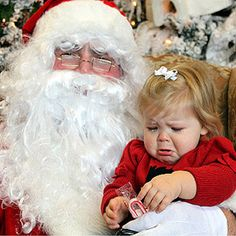 Real Kid Photos: Scared of Santa Christmas Past, Father Christmas, Christmas Humor, All Things Christmas, Santa Claus Photos, Santa Pictures, Christmas Pictures, Holiday Photos, Holiday Fun