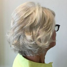 Over Short Layered Hairstyle