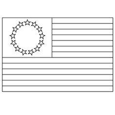 the first american flag  printable image 002  flag
