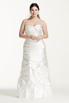 Charmeuse Pick-Up Skirt Plus Size Wedding Dress 9WG3339