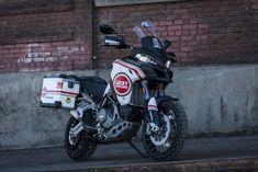 Lucky Strike Ducati Multistrada 1200 Enduro by MotoCorsa - Asphalt & Rubber Moto Ducati, Ducati Enduro, Ducati Motorcycles, Cars And Motorcycles, Ducati Multistrada 1200, Monster Cycle, Off Road Racing, Touring Bike, Super Bikes