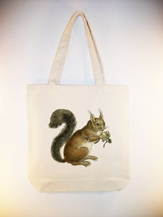 I just listed Vintage squirrel on 15x15 Canvas Tote -- larger zip top tote and personalization available  on The CraftStar #thecraftstar #uniquegifts