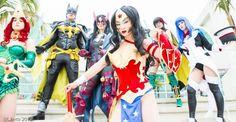 Mera, Batman, Huntress, Wonder Woman, Robin and Zatanna Ame-Comi Group Best Cosplay, Awesome Cosplay, Cosplay Costumes, Dc Comics, Robin, Batman, Wonder Woman, Deviantart, Pretty