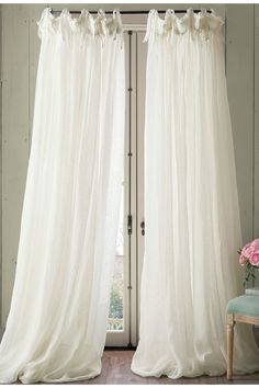 Soft Surroundings Window Coverings - Balloon Drapery Panel I Balloon Curtains, Drapes Curtains, Bedroom Curtains, Sheet Curtains, Living Room Drapes, French Curtains, Sheer Drapes, Linen Bedroom, Curtain Fabric
