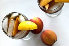 peach-infused bourbon iced tea.