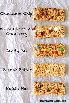 トッピングを変えればバリエーションも豊富に。 チョコチップ、ホワイトチョコ×クランベリー、キャンディー、ピーナッツバター、レーズンナッツ。 どれもおいしそう!