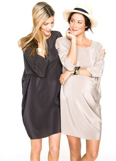 The Shirt Dress by Hatch: Time for a night out. I love the casual look of this dress, and the sheen gives it just enough glam for an evening out.  #StyleSquared
