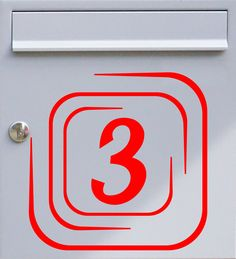 Hausnummer Quadrate - Briefkastentattoo - Wunschzahl, Wunschfarbe - von Design Out Of Norm