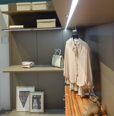 Closet organization with lighted shelving from Hans Krug