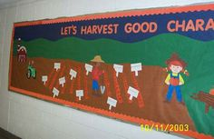 Harvest Good Character Bulletin Board I love this for Fruit of the spirit theme!