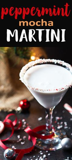 Peppermint Mocha Martini - A quick, easy and festive holiday cocktail! #ad #holidaydelight #IDelight