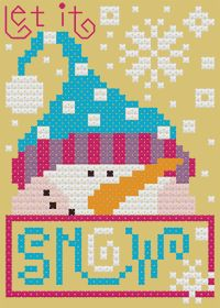 Let it Snow, designed by Barbara Ana Astray Mendez, from Barbara Ana Designs.
