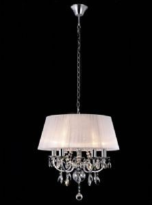 Madmoiselle White Shaded Crystal Chandelier