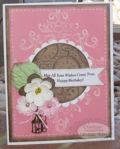 Couture Creations: Super Marina Birthday Cards by Jo Piccirilli | Couture Creations Embossing Folders & Nesting Dies