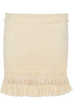 ISABEL MARANT Tifen Tasseled Cotton-Blend Mini Skirt. #isabelmarant #cloth #skirt