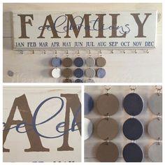 Family Celebrations Board . Family von WonderfullyMadeDecor auf Etsy