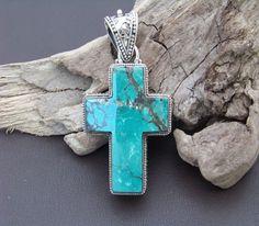 turquoise jewelry, cross pendant