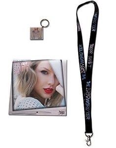 Taylor Swift 1989 World Tour Gift Pack (18 Month Calendar Lanyard Photo Keychain)