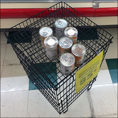 Can Goods Open-Wire Tall Dunnage Rack Retail Merchandising, Store Fixtures, Wire, Canning, Retail, Retail Boutique, Home Canning, Conservation, Cable