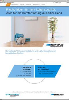 Kunde: Avenco AG | Branche: Bauwesen | Werbemittel: Responsive-Website Design | Erscheinung: einmalig | Umfang: Umsetzung