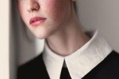 stylish white collar