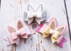 Easter Bunny Ear Bow  Baby Headband  Easter by SprinkleOfBowsShop