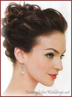 Front Side Twist - hairstyles for my future short hair hairstyles-for-medium-length-hair Wedding Hair And Makeup, Wedding Updo, Bridal Hair, Hair Makeup, Fancy Hairstyles, Twist Hairstyles, Wedding Hairstyles, Medium Hair Styles, Curly Hair Styles