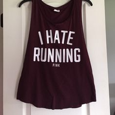 VS PINK Tank I hate running tank in great condition. No trades. PINK Victoria's Secret Tops Tank Tops