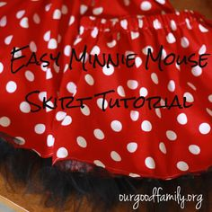 Welcome to our Good life!: The Minnie Mouse Skirt {tutorial}