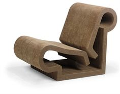 FRANK GEHRY (b. 1929) CONTOUR CHAIR, designed 1970, for Easy Edges, corrugated cardboard and masonite