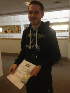 Congratulations to Public Services student David Clarke who has won the 100% attendance award for September!