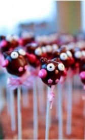 Owl party ideas - 5th birthday party cake pops
