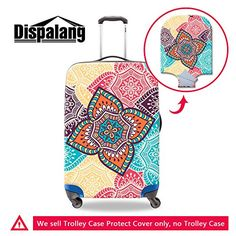 Generic Art Flower Printed Waterproof Luggage Cover for Travel SkullElastic Suitcase Protectors * You can find more details by visiting the image link.
