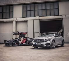 Photographer @gfwilliams discovers many shades of AMG: From the GLA 45 AMG's 355 horsepower 'M133' engine, to the @PaganiAutomobili Huayra's Mercedes-AMG 'M158' powerplant making over 700hp! [GLA 45 AMG Combined fuel consumption: 7,5 l/100 km | CO2 emission: 175 g/km] #MercedesBenz #MercedesAMG #Mercedes #Benz #AMG #GLA #GLA45AMG #Pagani #Huayra #M133 #M158