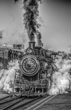 steam engine train | Steam Train, Steam Engine, Railroad, Smoke, Steam, Hdr