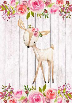 Woodland Animal Art Set 4 Printables F loral Animal Nursery Woodland Animal Nursery, Woodland Animals, Nursery Prints, Nursery Wall Art, Nursery Decor, Bedroom Art, Art Floral, Woodland Creatures, Cute Drawings