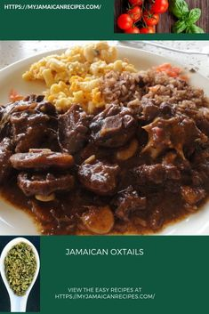 Jamaican oxtails and rice and peas for Sunday dinner. Learn how to make this and… Jamaican oxtails and rice and peas for Sunday dinner. Learn how to make this and other delicious Jamaican/Carribean dishes. Rice And Peas Jamaican, Jamaican Dishes, Jamaican Recipes, Jamaican Cuisine, Jamaican Soup, Jamaican Oxtail Stew, Oxtail Soup, Oxtails And Rice, Rice Krispies
