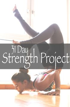 Pin it and join in on our 31 day yoga for strength project and watch your practice grow. Wearing: Onzie bra, Alo pants.