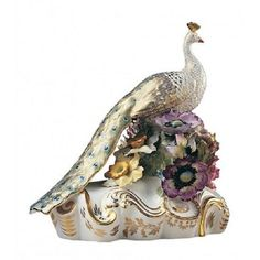 New Royal Crown Derby 1st Quality Sculptural Low Peacock Ornament